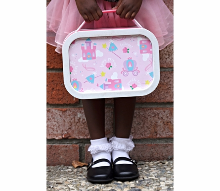 Personalized Fairy Princess Lunch Box - Pink