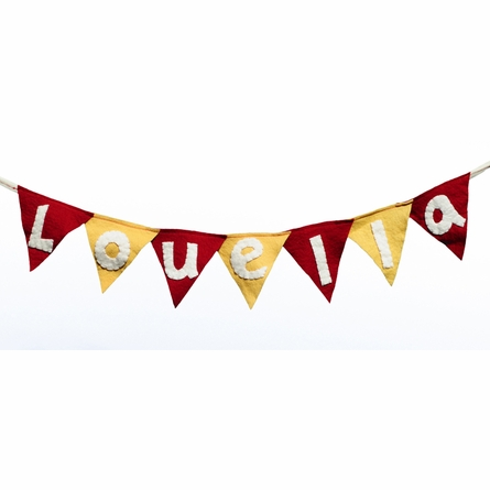 Personalized Felt Flag Banner