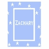 Personalized Floating Stars with Border Name Blanket
