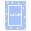 Personalized Floating Stars with Border Name Stroller Blanket