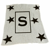 Personalized Stars and Initial Stroller Blanket