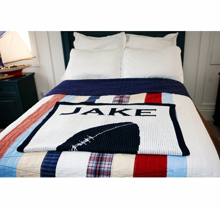 Personalized Football Name Blanket