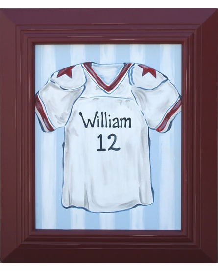 Personalized Football Jersey Hand Painted Canvas