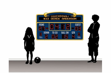 Personalized Football Scoreboard Peel and Stick Wall Mural