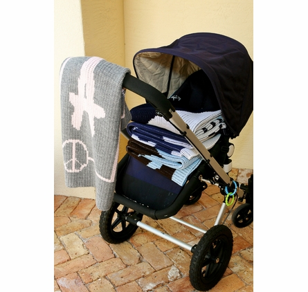 Personalized Football Name Stroller Blanket