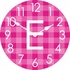 Personalized Gingham Wall Clock