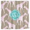 Personalized Giraffes Shower Curtain