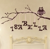 Personalized Girl Owl Wall Decal