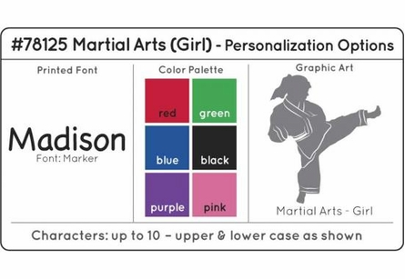 Personalized Girls Martial Arts Medal Holder in White