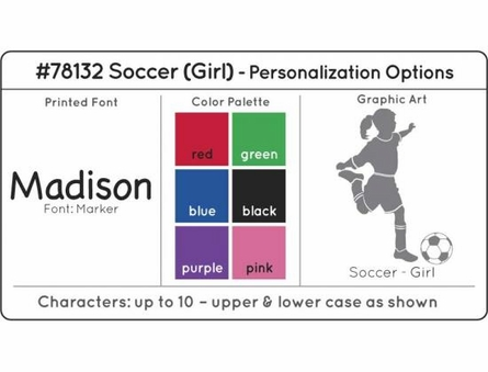 Personalized Girls Soccer Medal Holder in White