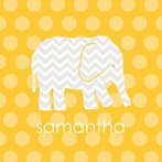 Personalized Gold Elephant Canvas Reproduction