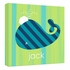 Personalized Green and Blue Whale Canvas Reproduction