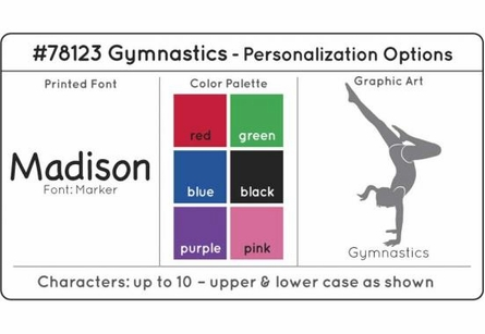 Personalized Gymnastics Medal Holder in White