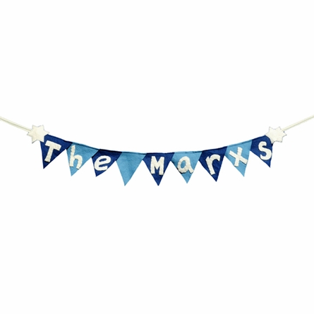 Personalized Hanukkah Winter Holiday Flag Banner