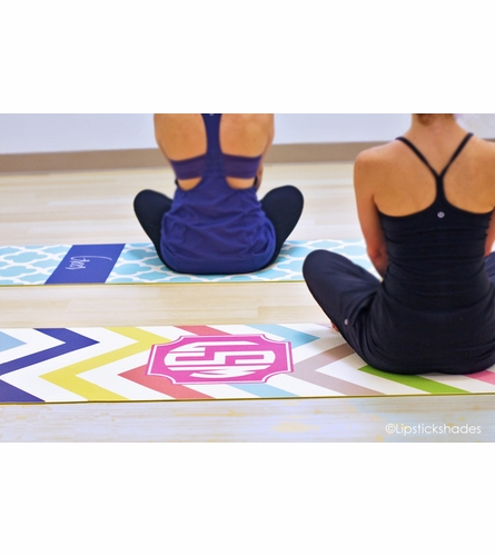 Personalized Hearts Yoga Mat