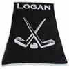 Personalized Hockey Name Blanket