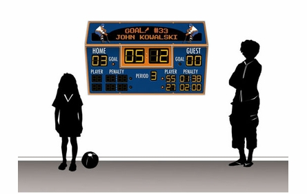 Personalized Hockey Scoreboard Peel and Stick Wall Mural