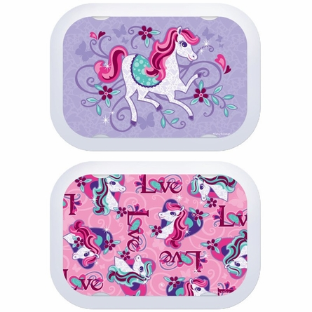 Personalized Horses Name Lunch Box - Lavender