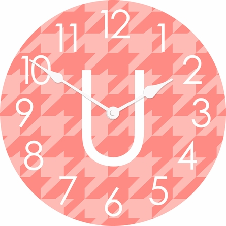Personalized Houndstooth Wall Clock