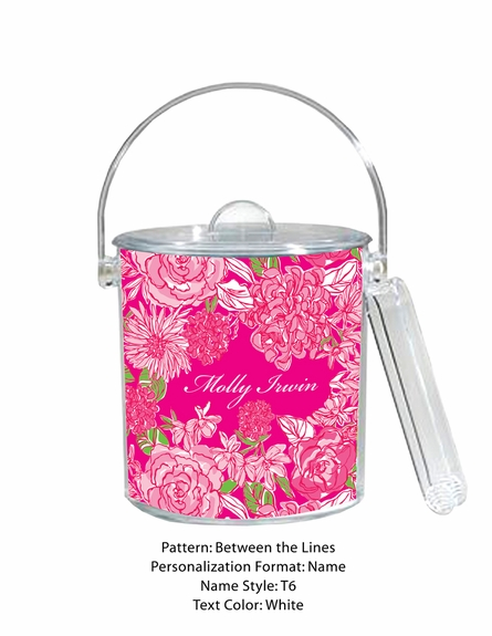 Lilly Pulitzer Personalized Ice Bucket in Between the Lines