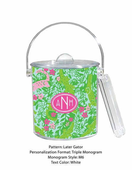 Lilly Pulitzer Personalized Ice Bucket in Later Gator
