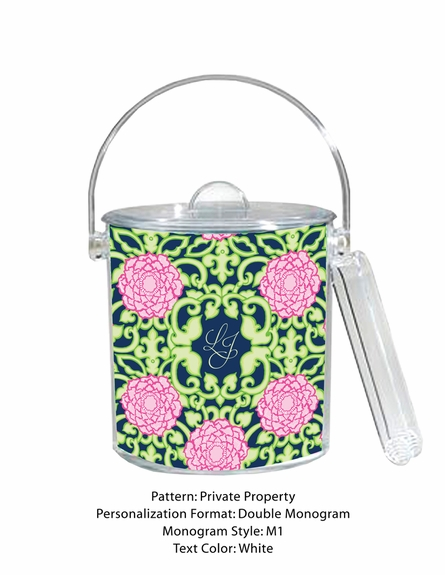 Lilly Pulitzer Personalized Ice Bucket in Private Property
