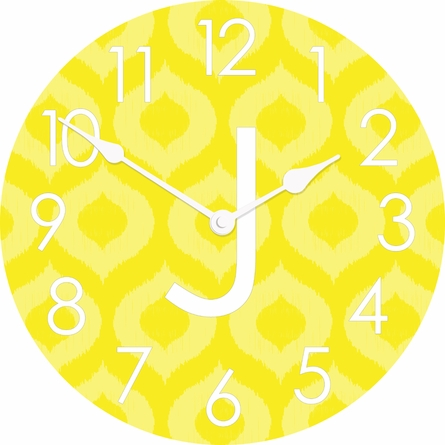 Personalized Ikat Wall Clock