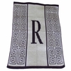 Personalized Initial Scroll Blanket