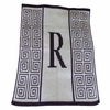 Personalized Initial Scroll Stroller Blanket