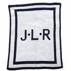 Personalized Initials & Double Border Stroller Blanket