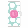 Personalized iPhone Wallet Case in Biggie Polka Dot