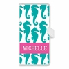 Personalized iPhone Wallet Case in Seahorse