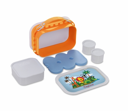 Personalized Jungle Fun Lunch Box - Orange