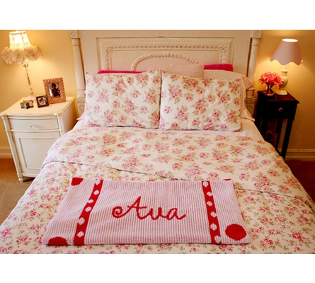 Personalized Large Polka Dot Framed Blanket