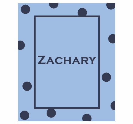 Personalized Large Polka Dot Solid Framed Blanket
