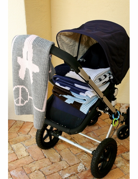Personalized Large Polka Dot Name Stroller Blanket