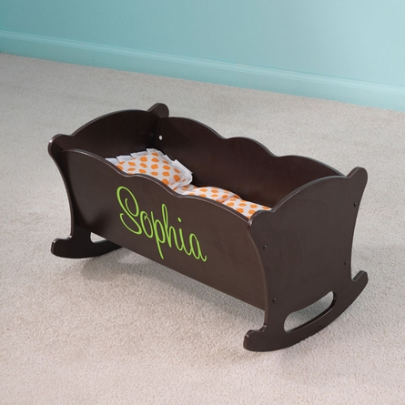 Personalized Lil Doll Espresso Cradle