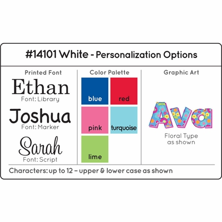 Personalized Limited Edition Toy Box - White