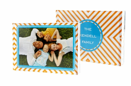 Personalized Lucite Picture Frame in Multiple Designs