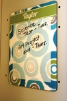 Personalized Magnetic Dry Erase Locker Board