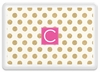 Personalized Melamine Tray - Single Initial Square