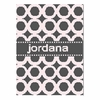 Personalized Modern Circles Name Blanket