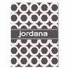 Personalized Modern Circles Name Stroller Blanket