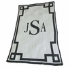 Personalized Monogram and Scroll Blanket