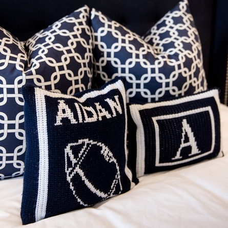 Personalized Name Pillow with Football