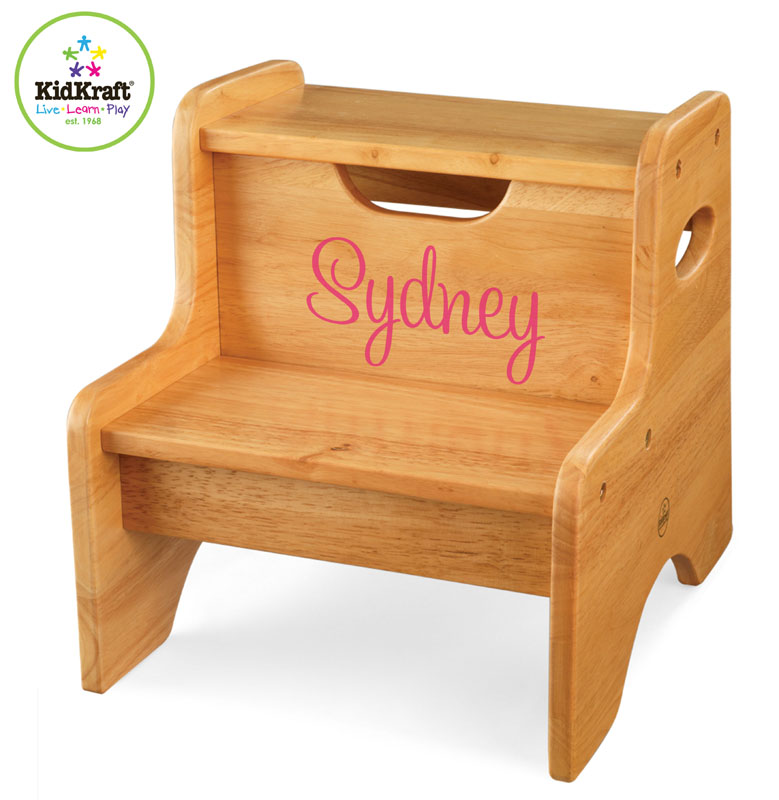 Personalized Natural Two Step Stool By Kidkraft