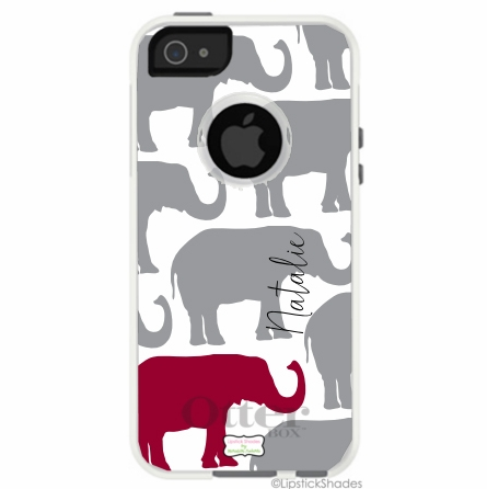 Personalized Otterbox iPhone Case in Elephant Parade