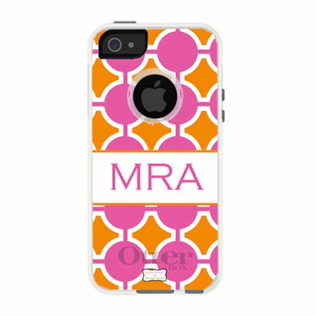 Personalized Otterbox iPhone Case in Hokey Pokey Fuchsia Pumpkin
