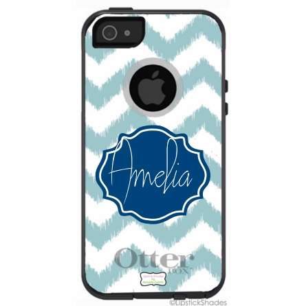 Personalized Otterbox iPhone Case in Ikat Chevron