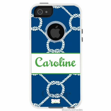 Personalized Otterbox iPhone Case in Nautical Rope